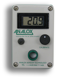 Analox O2 Portable Gas Cylinder monitor